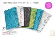 Handytaschen Sprücheklopfer von Stich & Faden