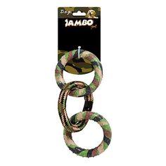 Brinquedo de Corda para Cachorro Militar Triple Ring Jambo Pet - MeuAmigoPet.com.br #petshop #cachorro #cão #meuamigopet