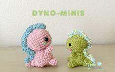 Free dinosaur pattern for crochet. Yarn Treasures Original
