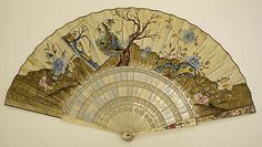 Fan  Date: 18th century Culture: European (probably) Medium: paper, paint http://www.metmuseum.org/collections/search-the-collections/80005944?rpp=20=1=*=Fans=1