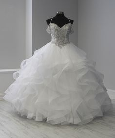 Off Shoulder Ruffled Quinceanera Dress by Fiesta Gowns 56369 (Size 24 - Source by zoexsa dresses white White Quinceanera Dresses, Quinceanera Planning, Quinceanera Party, Sweet 16 Dresses, 15 Dresses, Bleu Violet, Princess Ball Gowns, Wedding Season, White Dress