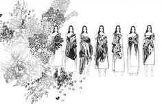 fashion portfolio // Yunan Wang Source by gigilingigi dress sketches Fashion Illustration Portfolio, Fashion Design Sketchbook, Fashion Design Portfolio, Illustration Mode, Fashion Sketches, Fashion Illustrations, Dress Sketches, Design Illustrations, Sketchbook Layout