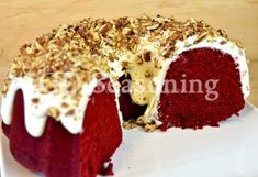 Red Velvet Cream Cheese Pound Cake Butter Pound Cake, Cream Cheese Pound Cake, Pound Cakes, Cream Cheese Frosting, Velvet Cream, Red Velvet, Bountiful Harvest, Red Food Coloring, Cake Flour