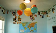 like the idea of a timeline for a child's room - with pics of them @ different ages at different points on the timeline