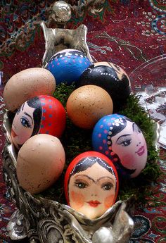 Eggs decorated for Norouz, the Persian New Year.