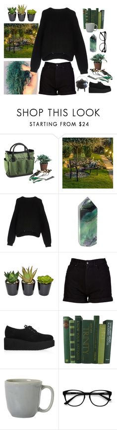 """""""[Outfits for OCs] Stina #2"""" by pastellilapsi ❤ liked on Polyvore featuring Picnic at Ascot, Furniture of America, Acne Studios, The French Bee, Karl Lagerfeld, Juliska and EyeBuyDirect.com"""