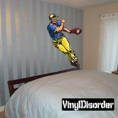 Baseball Wall Decal - Vinyl Sticker - Car Sticker - Die Cut Sticker - CDScolor172