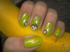 Cute Monkey :) by ALM - Nail Art Gallery nailartgallery.nailsmag.com by Nails Magazine www.nailsmag.com #nailart