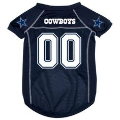 Dallas Cowboys Dog Jersey by Doggie Nation. $29.95. NFL Football Dog Jersey! Dress your pet in Cowboys gear and support your favorite team