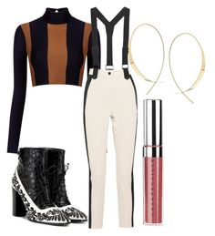 """""""suspender"""" by mogulness ❤ liked on Polyvore featuring Haight, Topshop, Erdem, Lana and Chantecaille"""