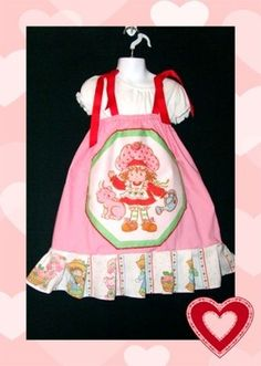 Strawberry Shortcake Vintage NEW boutique Dress & Strawberry Shortcake Hair bow - Made from fabric that is vintage Strawberry shortcake! FOR SALE NOW ON EBAY! SEARCH FOR EBAY ITEM NUMBER 200812686133  $6.00 FOR BOTH!