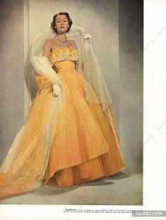 "Jacques Fath 1951 Robe ""Sunbeam"" en tulle"