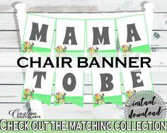 Chair Banner Baby Shower Chair Banner Rabbit Baby Shower Chair Banner Baby Shower Rabbit Chair Banner Green White printable files - 4N0VK #babyshowergames #babyshower