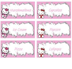 Hello Kitty Food Labels - FREE PDF Download