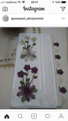 Needle Lace, Diy Flowers, Hand Embroidery, 3 D, Instagram, Dish Towels, Amigurumi, Needlepoint