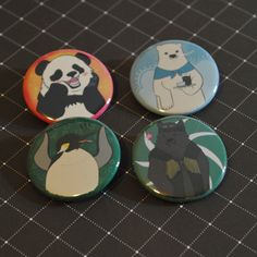 Shirokuma Cafe Button Set by radtastical on Etsy, $6.00