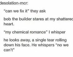 I'm actually not a fan of My Chemical Romance(they're a bit too much for my taste), but it's still funny.
