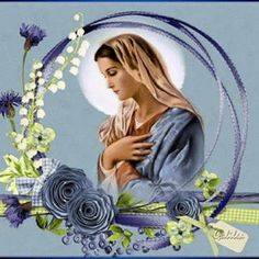 Animated Photo Jesus And Mary Pictures, My Maria, Tinkerbell, Madonna, Meditation, Animation, Christmas Ornaments, Disney Princess, Blog