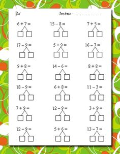 First Grade Math Worksheets, 2nd Grade Math, Kindergarten Worksheets, Kids Learning Activities, Teaching Kids, Teachers Aide, Math School, Homeschool Math, Math For Kids