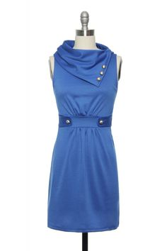 Cool at the Country Club Dress in Blue