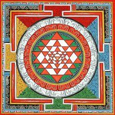 The Sri Yantra is a fundamental symbol of Hindu Tantra and illustrate the union of feminine (Shakti) and masculine (Shiva) power.