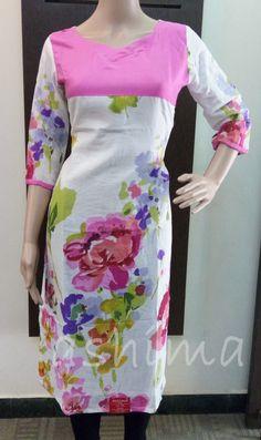 Code:0106160, Floral Printed Kurti Price INR:1490/-