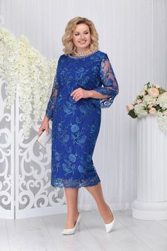 Blue Lace Dress with a Straight Cross - Blue Lace Dress with a Straight Cross The Effective Pictures We Offer You About vintage outfits A - Plus Size Cocktail Dresses, Plus Size Maxi Dresses, Beautiful Dresses, Nice Dresses, Dresses With Sleeves, Old Lady Dress, Women's Fashion Dresses, Dress Outfits, Baby Girl Dresses Diy