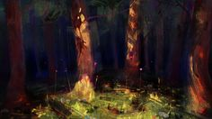 in the forest, Victor Lafaye on ArtStation at http://www.artstation.com/artwork/in-the-forest-c0ddc886-d49d-4dee-bb83-b867f540b433