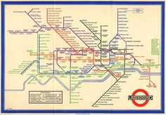 1933 version of tube map.
