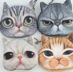 Wide Eyed Kitty Purse