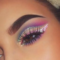 Cute eye make up Makeup Goals, Makeup Inspo, Makeup Art, Makeup Inspiration, Beauty Makeup, Fashion Inspiration, Makeup On Fleek, Cute Makeup, Pretty Makeup