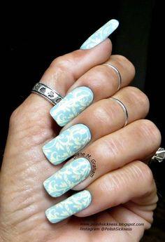 Soft Blue #nailart - bellashoot.com