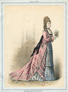 L'Elegance Parisienne June 1875 LAPL