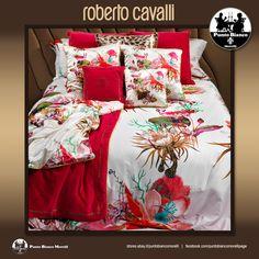 ROBERTO CAVALLI | CARAIBI Lenzuola, sopra sotto e due federe - Full bedsheet