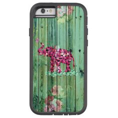 Cute, whimsical colorful pink elephant featuring pink sakuras cherry blossoms flowers and vintage wood on the retro elephant with teal and turquoise sakura flowers on a green turquoise and teal vintage flaked beach striped wood background Perfect gift for her or for anyone, for the wild animals lover. #elephant #animals #colorful #vintage #ornate #animal #green #wood #floral #elephant #retro #flowers #patterns #pink #sakura #cherry #blossoms #cherries #blossoms #pink #sakura #pink #cherry…