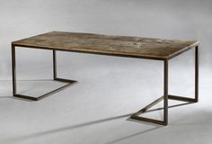 Rose Uniacke - Shop - The Modernist Table Iron Furniture, Steel Furniture, Table Furniture, Home Furniture, Furniture Design, Wood Steel, Wood And Metal, Industrial Table, Industrial Furniture