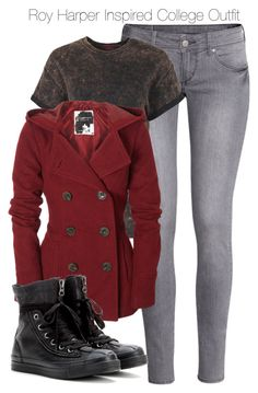Arrow - Roy Harper Inspired College Outfit by staystronng on Polyvore featuring polyvore fashion style Boohoo Aéropostale H&M Converse Arrow college royharper