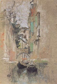 Venetian Canal, 1880 by James Whistler James Abbott Mcneill Whistler, Pastel Drawing, Pastel Art, Illustration Art, Illustrations, Art Moderne, Chalk Pastels, Art For Art Sake, American Artists
