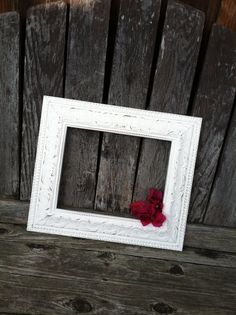 Ornate Picture Frame  8x10 Antique White Shabby by ThePaintedLdy, $36.00