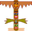 toilet paper roll totempole