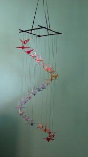 Crane Mobile for Baby Nursery