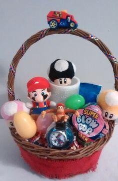 $45 @Ebay SUPER MARIO & Friends EASTER Basket #SuperMarioBrothers