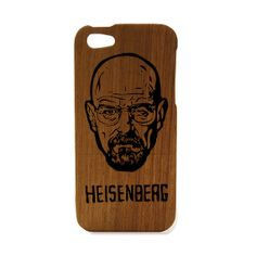 Breaking Bad iPhone case wood , Heisenberg, iPhone 5 engraved personalized -real wood iphone