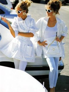 1980s  White Summer Fashion