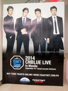 "CNBLUE ""Can't Stop"" Live Tour 2014 in Manila"