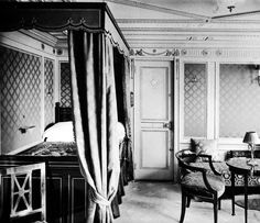 First class accommodations aboard the RMS Titanic in an undated photo. The largest ship afloat at the time, the Titanic sank in the north Atlantic Ocean on April 15, 1912, after colliding with an iceberg during her maiden voyage from Southampton to New York City.