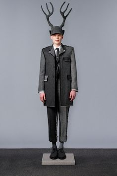 Antler hat by Stephen Jones // for Thom Browne F/W 2014