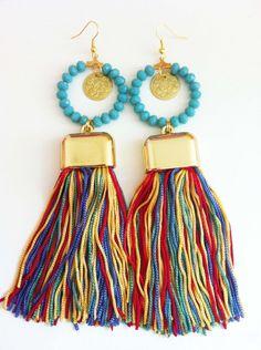 Multicolor Ethnic Earrings