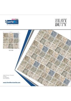 Millennium Tiles 305x305mm (12x12) Digital Heavy Duty Outdoor...  Millennium Tiles 305x305mm (12x12) Digital Heavy Duty Outdoor Full-Body Porcelain Parking Tiles Series.https://goo.gl/7DBGHH - DG 528 - Highly Abrasion Resistant - Anti Skid - Fire Resistant - Stain Resistant - Certifications: ISO 9001:2008 ISO 14001:2004 CE
