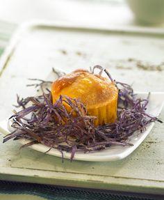 Coulant de erizo de mar y chips de patata violeta | Delicooks | Good Food Good Life